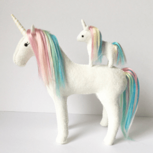 mother and baby unicorn sewing kit