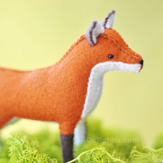 felt fox sewing tutorial