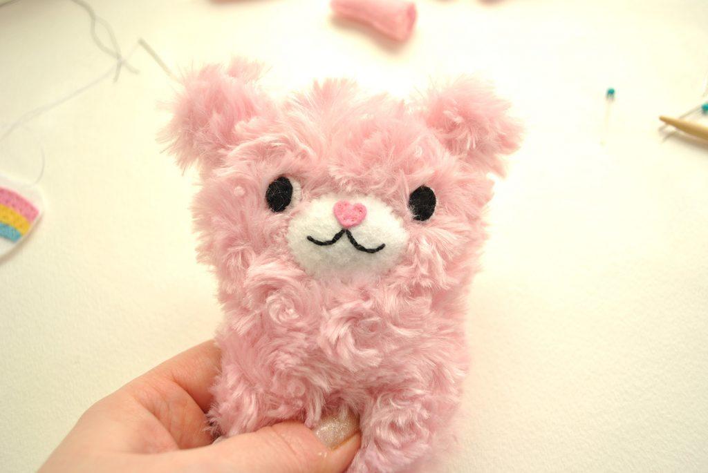 diy care bear plush tutorial cheer bear pink teddy