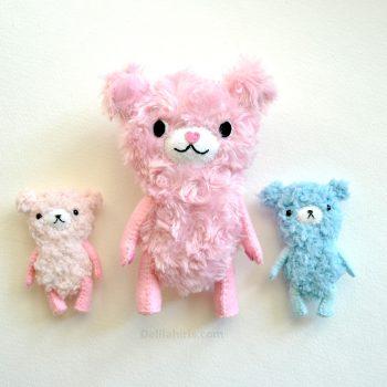 Fuzzy Teddy Bear Sewing Pattern