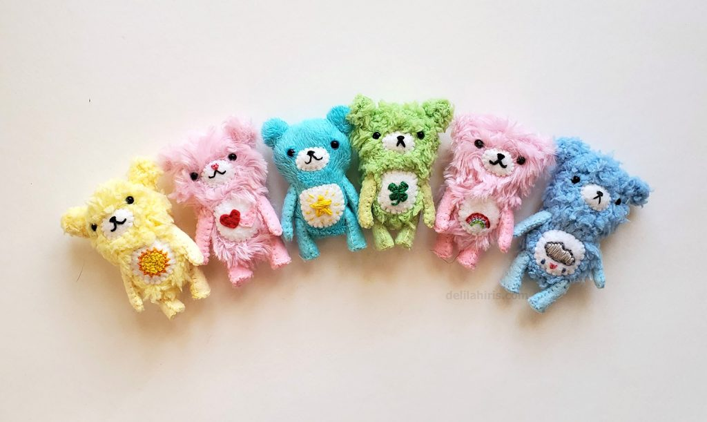 tiny handmade care bears delilahiris