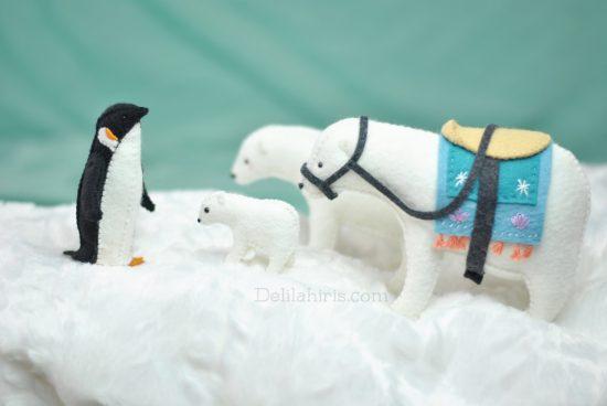 arctic felt animals