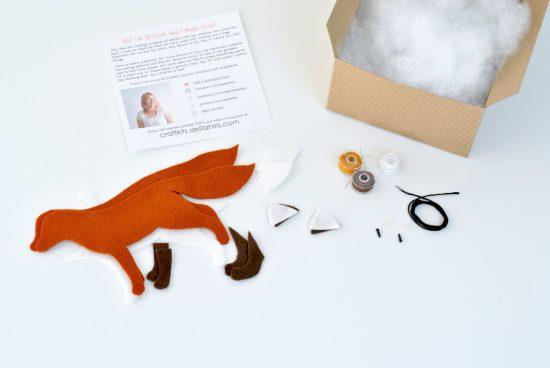 felt fox kit make your own stuffed animals
