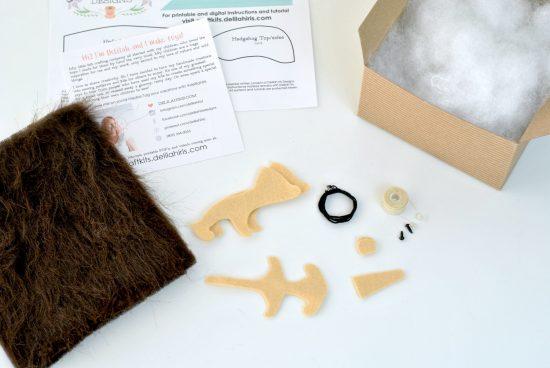 diy hedgehog sewing kit