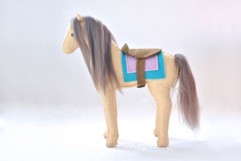 Stuffed Felt Horse Pattern Sew Your Own Unicorn Horse Or Pegasus