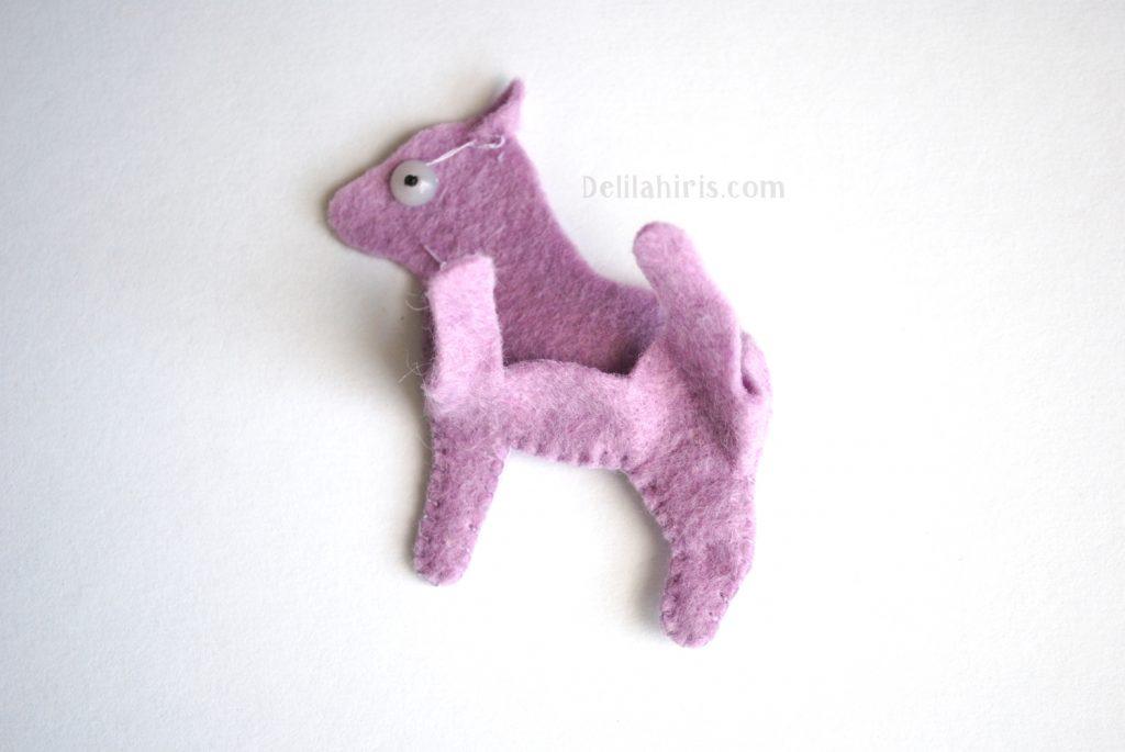 diy baby unicorn felt miniature
