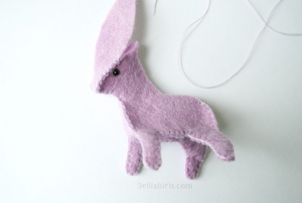 diy baby unicorn felt miniature sewing pattern