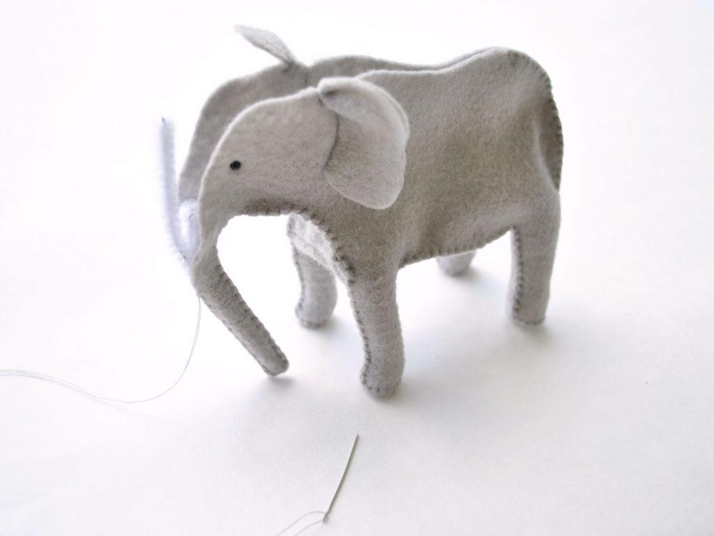 make your own felt elephant