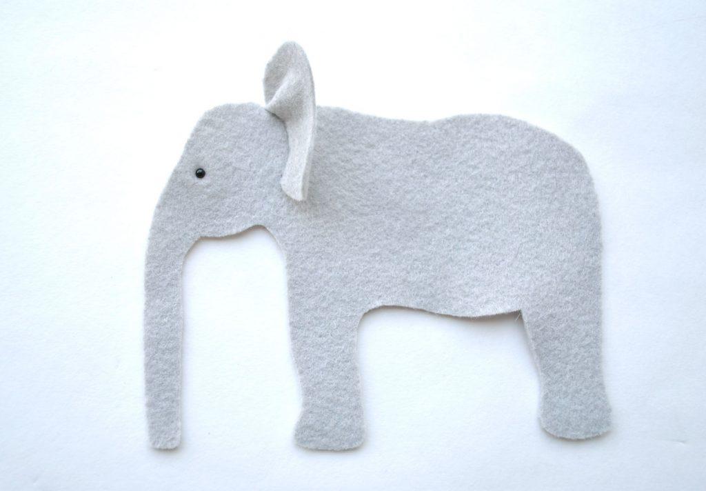 felt animal stuffed elephant tutorial