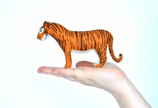 handmade tiger stuffed felt toy