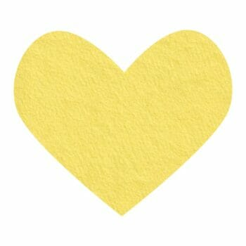banana cream wool felt