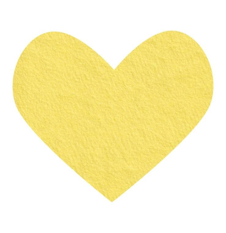 yellow wool felt