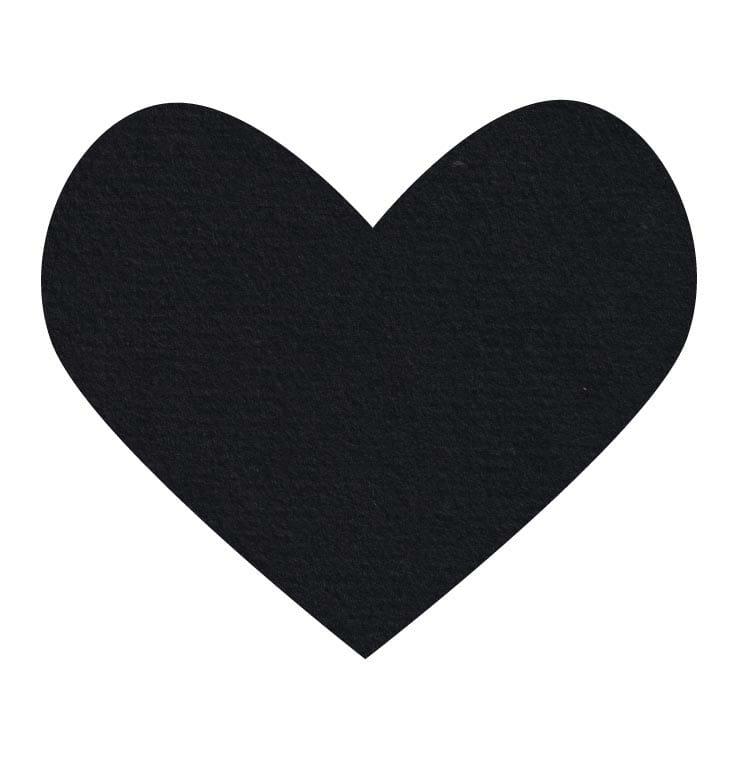 black wool felt