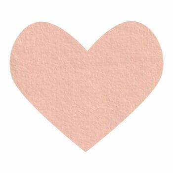 blush wool felt