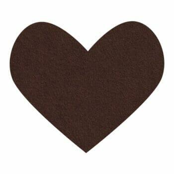 chocolate wool felt