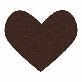 chocolate wool felt