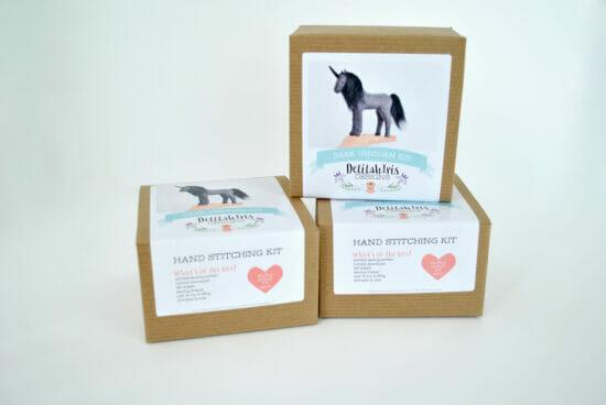 black unicorn sewing kit