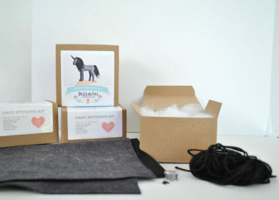 grey black unicorn kit