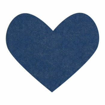 denim blue wool felt