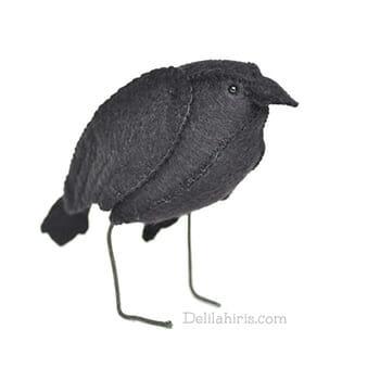 felt black bird crow raven