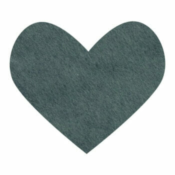 forest green wool felt