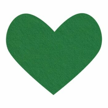 good luck green wool felt