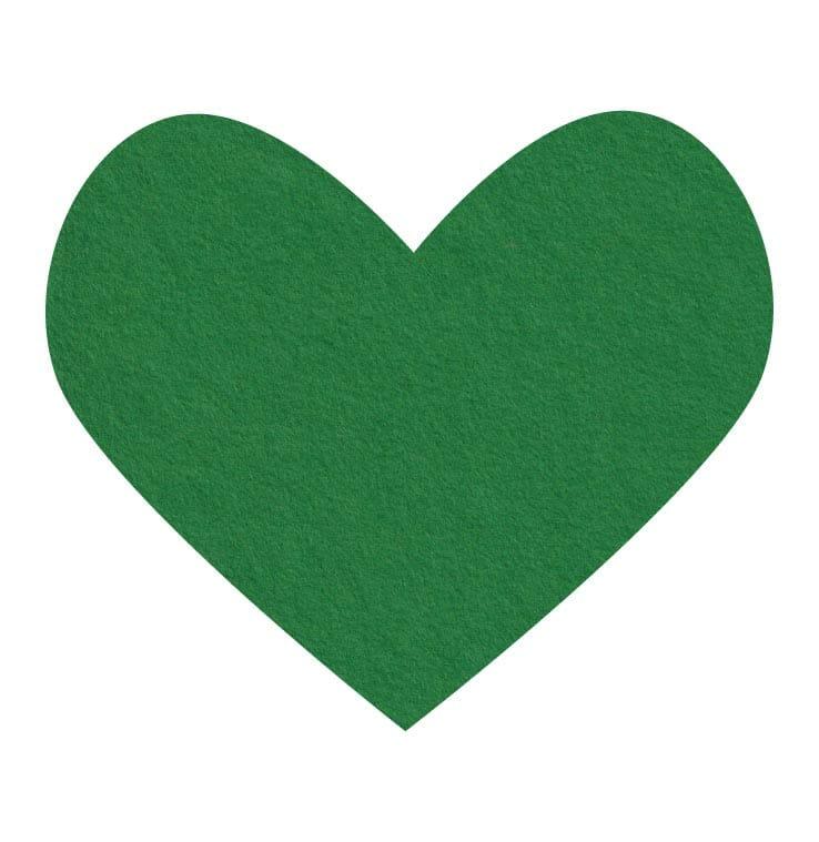 green wool felt