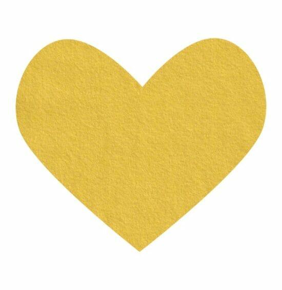 mellow yellow wool felt
