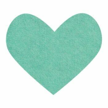 mint leaf wool felt