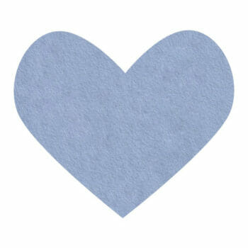 misty blue wool felt
