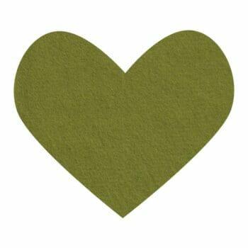moss green wool felt