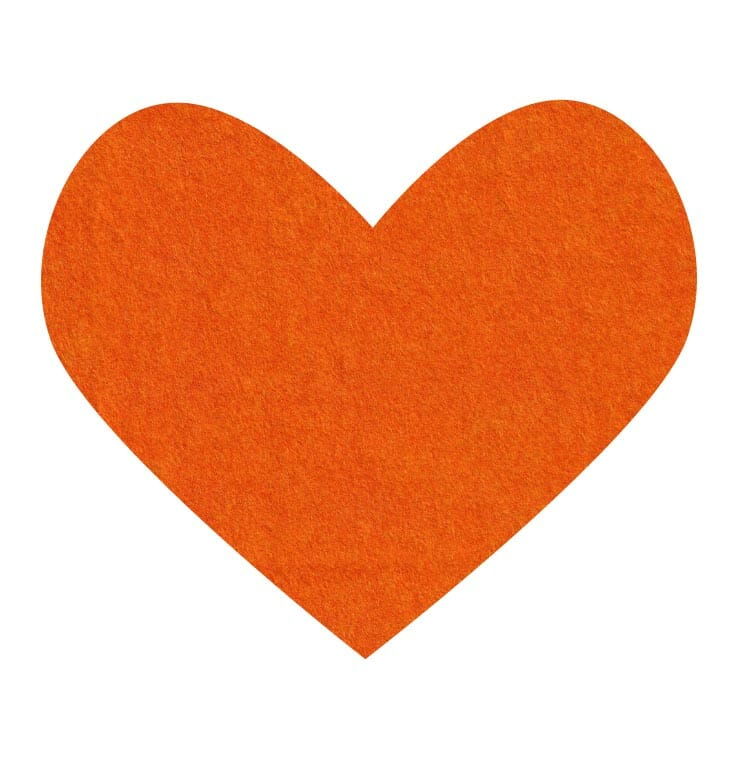 orange wool felt