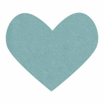 ocean blue wool felt