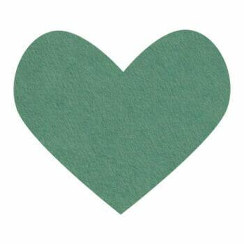 emerald wool felt