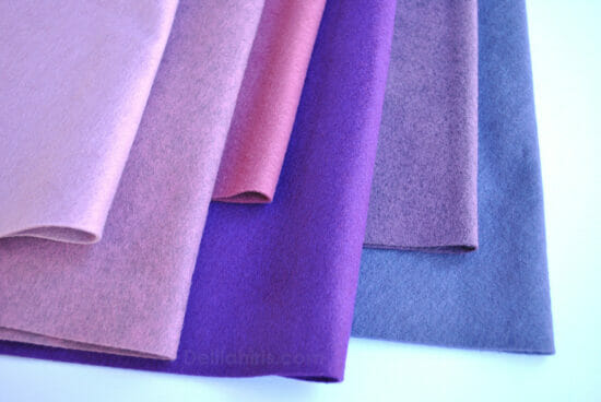 purple wool felt