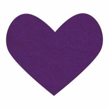 purple rain wool felt