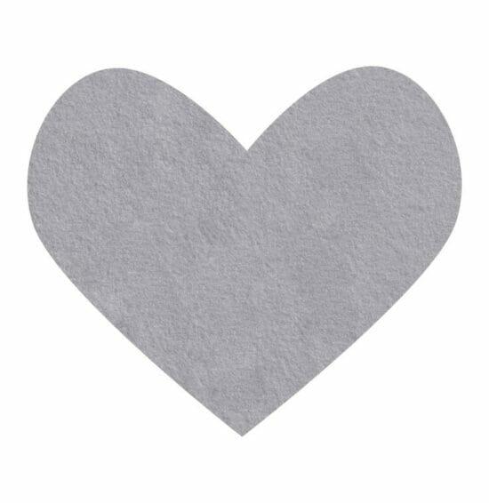 silver gray wool felt