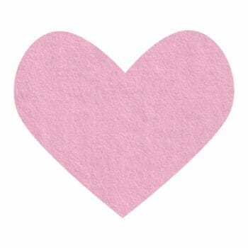 tickled pink wool felt