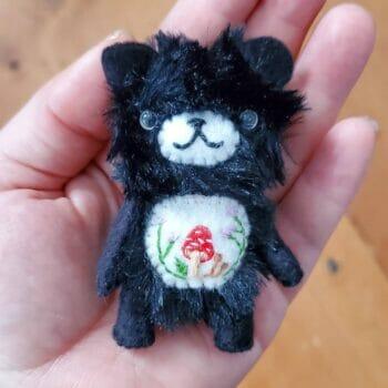 4 inch handmade artist bear mini plush