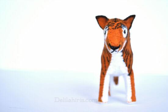 felt tiger stuffed animal