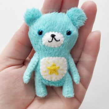 handmade care bear mini plush art bear